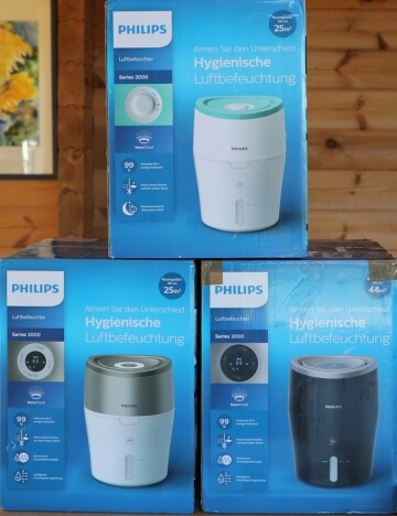 Philips Luftbefeuchter im Vergleich, HU4801 HU4803 HU4813