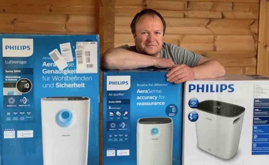 Vergleich von Philips Luftreinigern