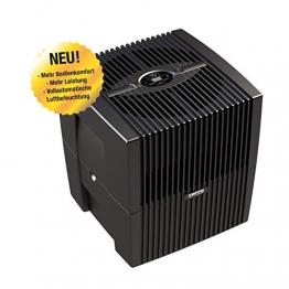 Venta Luftwäscher LW25 COMFORTPlus Luftbefeuchter und Luftreiniger für Räume bis 45 qm, brillant schwarz, mit digitaler Steuerung - 1