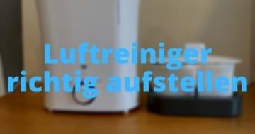 Luftreiniger richtig aufstellen